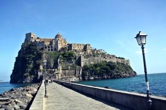 Aragonese Schluss in Ischia Ponte