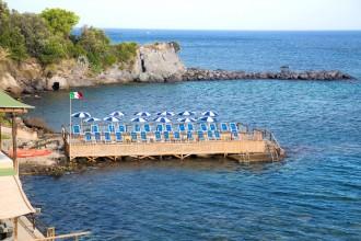 Entspannung in den Thermalgarten Castiglione in Casamicciola auf Ischia