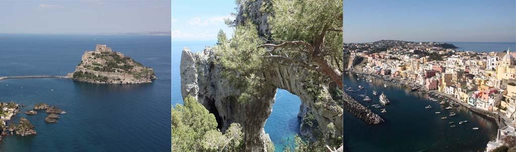Inselkombination und Kombinationsreisen im Golf von Neapel